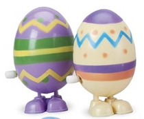 Wind up hopping eggs for non candy easter basket ideas.